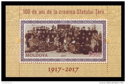 Moldova 2017 Mih. 1021 (Bl.78) National Council Of Moldova Sfatul Tarii MNH ** - Moldova