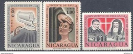 1963 NICARAGUA PA 486-88** St Vincent De Paul - Nicaragua