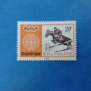1968 REPUBLIQUE RWANDAISE FRANCOBOLLO NUOVO STAMP NEW MNH** - OLIMPIADE MESSICO GIOCHI OLIMPICI 20 EQUITAZIONE - Rwanda