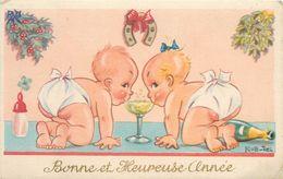 ROB-VEL (illustrateur) - Bonne Et Heureuse Année.(bébés Et Champagne) - Illustrators & Photographers