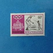 1968 REPUBLIQUE RWANDAISE FRANCOBOLLO NUOVO STAMP NEW MNH** - OLIMPIADE ROMA GIOCHI OLIMPICI 60 SCHERMA - Rwanda