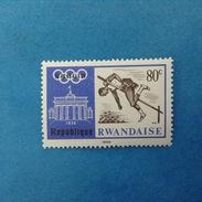 1968 REPUBLIQUE RWANDAISE FRANCOBOLLO NUOVO STAMP NEW MNH** - OLIMPIADE BERLINO GIOCHI OLIMPICI 80 SALTO IN ALTO - Rwanda