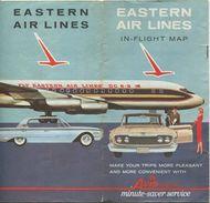 Eastern Air Lines In-Flight Map 16 Seiten 50er Jahre - Advertising