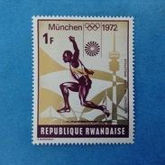 1972 REPUBLIQUE RWANDAISE FRANCOBOLLO NUOVO STAMP NEW MNH** - OLIMPIADE MONACO GIOCHI OLIMPICI 1 SALTO IN LUNGO - Rwanda