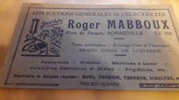 Buvard Roger MABBOUX Applications Générales De L'électricité Roger MABBOUX, Grand Choix De Lustrerie, Aspirateurs Etc... - Electricité & Gaz