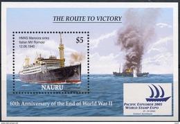 NAURU 2005 - 50e Ann Fin 2e Guerre Mondiale, Bateaux - BF Neufs // Mnh // CV 12.50 Euros - Seconda Guerra Mondiale