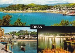 Postcard Oban Multiview PU Iona 1983 By John Hinde  My Ref B22012 - Argyllshire