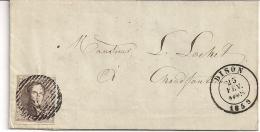 10A BRIEF VERTREKKEND DISON P34 -25 FEV. 1859 NAAR CHAUDFONTAINE AANKOMST 26 FEV 1859 - 1858-1862 Medallions (9/12)