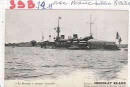 Bateau De Guerre  - Cuirasse D Escadre - ( Le Brennus ) - Ed: Chocolat Klaus - Guerra