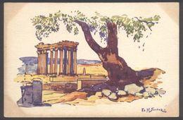 Algérie - Illustrateur Sandoz - Ruines Romaines - Voir 2 Scans - Algeria