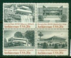 USA 1982 Mi 1600-03 Block Of Four** Architecture [A5045] - Architettura