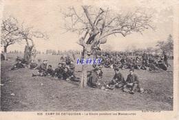CPSM 9X14  De COËTQUIDAN (56) - CAMP - La SIESTE Pendant Les MANOEUVRES  -édit CHAPIN N° 826 - 1932 - Sonstige Gemeinden
