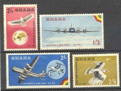 Ghana, Yvert PA1/4, Scott 32/35, SG 193/196, MNH - Ghana (1957-...)
