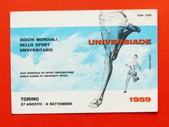 Cartolina Sport - Universiade - Giochi Mondiali Sport Universitario - 1959 - Postcards