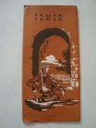 IZMIR - TURKEY, SMYRNA, 1950 APROX. SCALE 1:20 000 MAP INSIDE. - Tourism Brochures