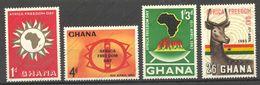 Ghana, Yvert 127/130, Scott 135/138, SG 303/306, MNH - Ghana (1957-...)