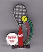Pin's COCA LONDRE 2012 TENNIS - Coca-Cola