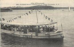 DE SAINT MALO à DINARD Par Les Vedettes Dinardaises. - Barche