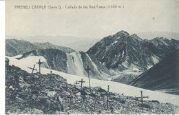 POSTAL   PIRINEO CATALAN  -GERONA  - COLLADA DE LES NOU CREUS ( 2.800 M ) - España