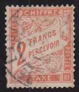 Taxe 2 Francs Rouge Orange - Taxes