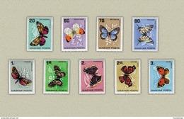 Hungary 1966. Animals / Butterfly Set MNH (**) Michel: 2201-2209 / 6.50 EUR - Hungary