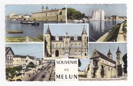 77 Melun N°20662 Mairie Centrale Silo Péniche Union Normande VOIR ZOOM Station Essence TOTAL - Melun