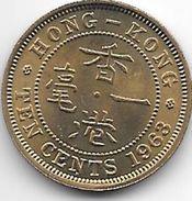Hong Kong 10 Cents 1963  Km 28.1  Unc !!! - Hong Kong