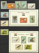Ghana, Yvert 181/188+BF14&BF15, Scott 192/199+194a&199a, SG 357/364+MS364a (a)&(b), MNH - Ghana (1957-...)