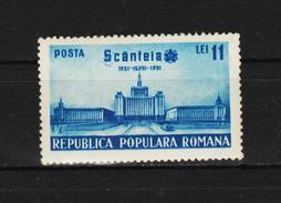 1951 -  Journal Scanteia Michel No 1274 Et Yv No 1160 - Ungebraucht