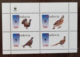 RUSSIE- Ex URSS, Oiseaux, Pajaros, Aves, Birds, Feuillet 4 Valeurs Se Tenant MNH, Neuf Sans Charniere ** (9) - Gallinacées & Faisans
