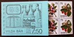 SUEDE Vigne, Vin, Alcool. CARNET BOOKLET FRUITS Des Bois 1977 . MNH ** Neuf Sans Charniere - Vins & Alcools