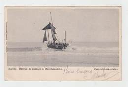OOSTDUINKERKE / MARINE - BARQUE DE PASSAGE (au Dos : Tampon Mission Francaise) - Oostduinkerke