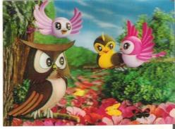 3D - Cartoon Animal Characters Owls - Sonstige