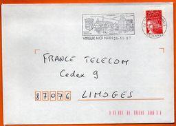 07 VIREUX MOLHAIN INDUSTRIE 1997 Lettre Entière N° GG 308 - Marcophilie (Lettres)
