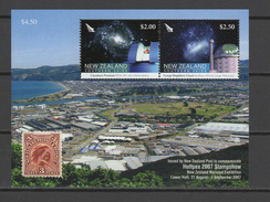 New Zealand 2007 Michel Block 216 Space, Southern Skies, Huttpex Stampshow S/s MNH - Raumfahrt
