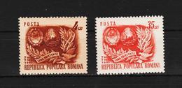 1951 - Mois De L Amitie Romano-sovietique Mi No 1292/1293 Et Yv No 1179/1180 MNH - 1948-.... Républiques