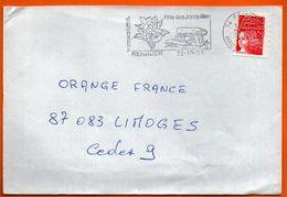 74 REIGNIER   FETE DES JONQUILLES   2001 Lettre Entière N° GG 317 - Marcofilia (sobres)
