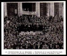1919  -- BRUXELLES LE 11 MAI MANIFESTANTS DE LA LIGUE DES PATRIOTES BELGES 3M577 - Vieux Papiers