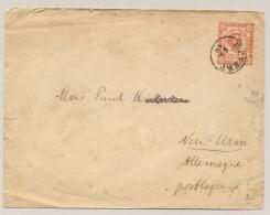 Montenegro - 1893 - 5 Nkr Pre-printed Cover From Cetinje To Neu Ulm / Deutschland - Montenegro