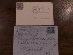 06.11.17_ LSC De Cachet Paris Rue Cardinal Lemoine Mai 77 Et Convoyeur Quillan A Carcassonne - 1877-1920: Période Semi Moderne