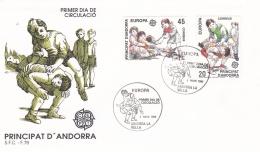 Andorra 1989 FDC Europa CEPT (DD8-33) - 1989