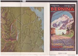 GRAUBUNDEN  SUISSE - CHEMIN DE FER BERNINA BAHN - TRAIN - DEPLIANT 7 VOLETS - TB - Tourism Brochures