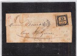 FRANCE TAXE Nº 3 SUR LETTRE. BON REVERS - 1859-1955 Cartas
