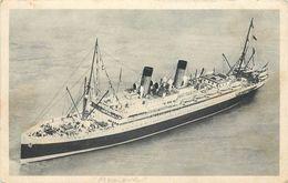 COMPAGNIE GÉNÉRALE TRANSATLANTIQUE - Linea Francesa, SS Mexique. - Paquebots