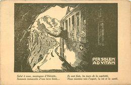 SUISSE 1914/18 - Unions Chrétiennes De Jeunes ,commission Romande Des Prisonniers Malades,carte Illustrée Par Un Train. - Guerre 1914-18
