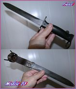 Baïonnette   Pour Le Fusil Mas Modele 49 56   Contre Tranchant Court - Armes Blanches
