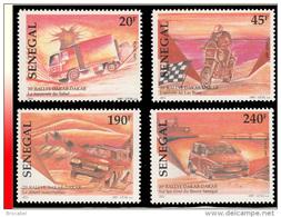 Senegal 1269/72**  20è Rallye Dakar  MNH - Sénégal (1960-...)