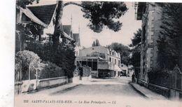 Cpa (17)--saint-palais-sur-mer - La Rue Principale.(hotel De Paris) - Saint-Palais-sur-Mer