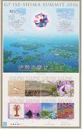 Japan 2016 Block G7 Ise-shima Summit 2016 - Ministers' Meetings - Hiroshima - Ritsurin Garden - Blokken & Velletjes