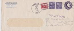 USA 1951 ENTIER POSTAL LETTRE DE HONOLULU AVEC TIMBRE PERFORE - Entiers Postaux
